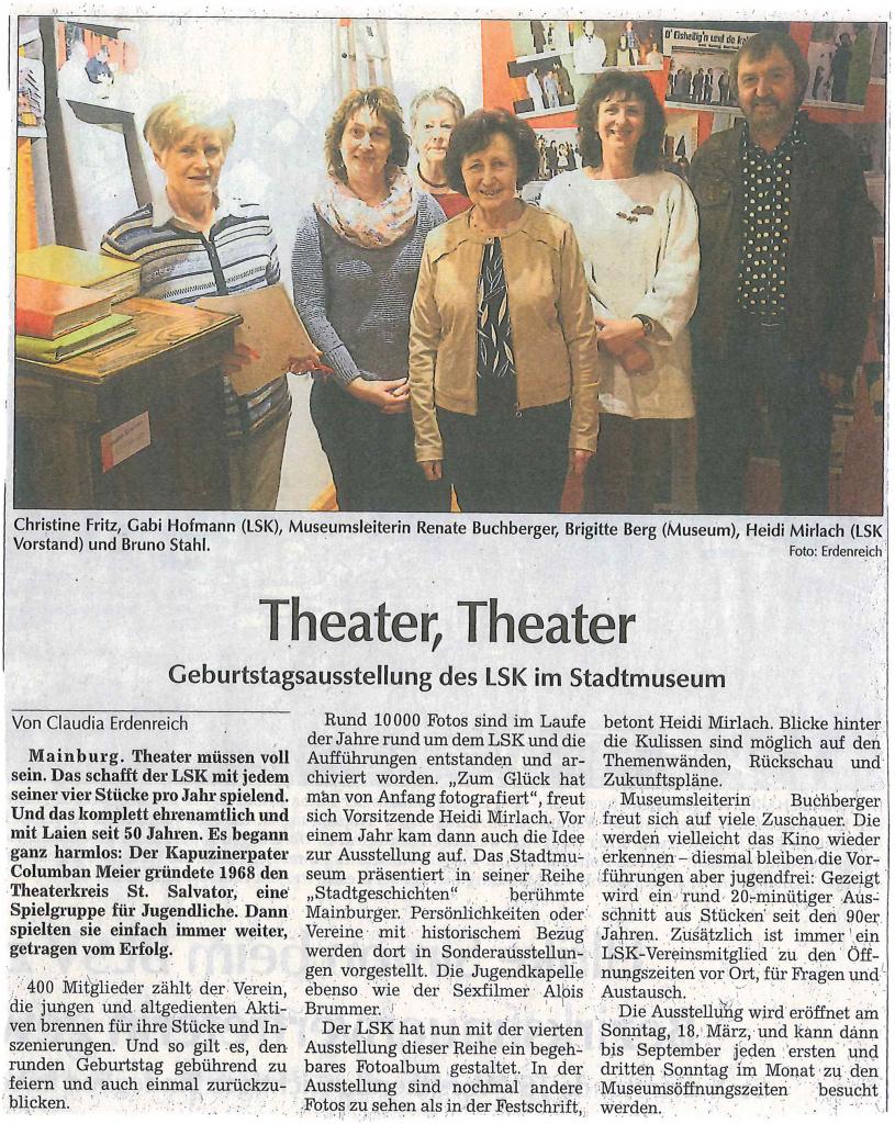Hallertauer Zeitung 12.03.2018 Theater, Theater