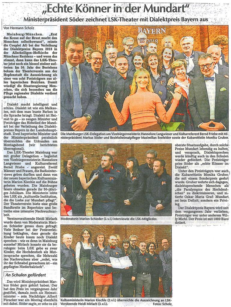 Hallertauer Zeitung 19.04.2018