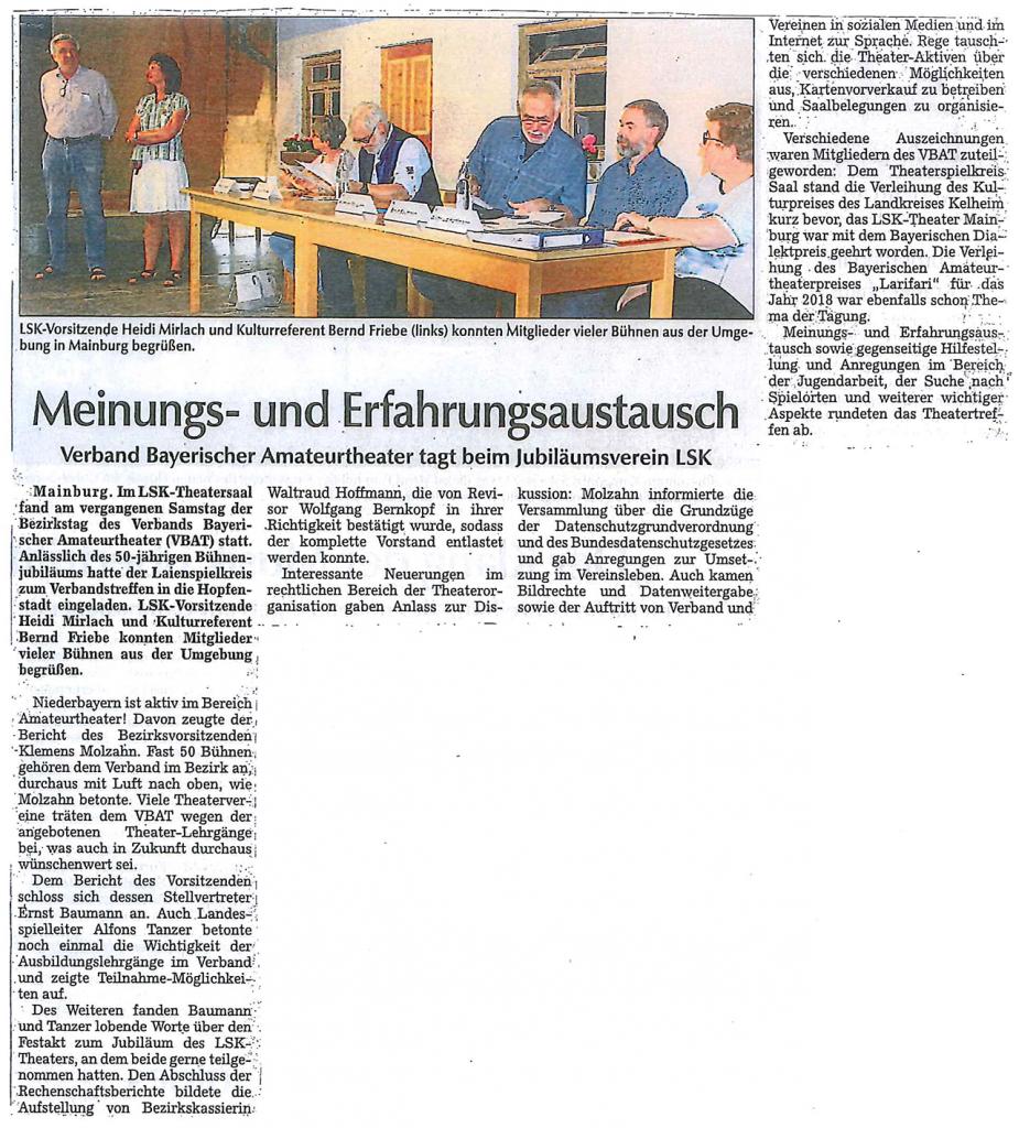 Hallertauer Zeitung 30.04.2018