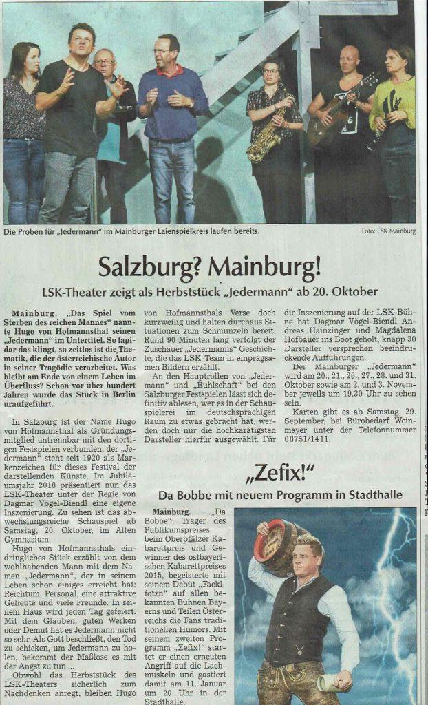 Hallertauer Zeitung 21.09.2018