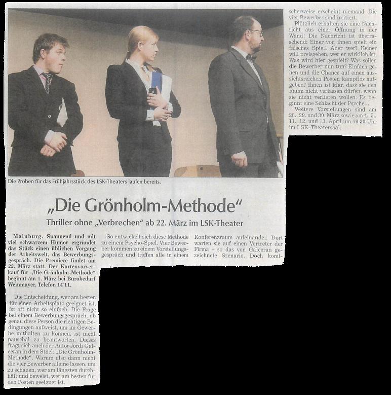 Die Grönholm Methode